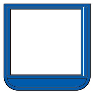 ポケット胸章青 368−16