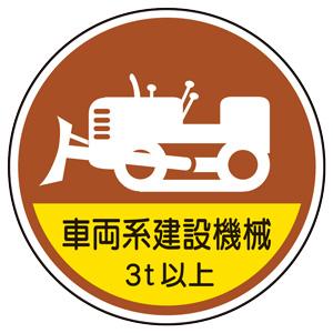 作業管理関係ステッカー 370−98A 車両系建設機械3t以上 2枚入