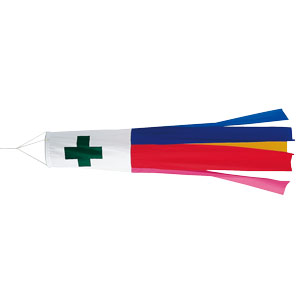 旗類 372−30 安全吹流し 450径×2850