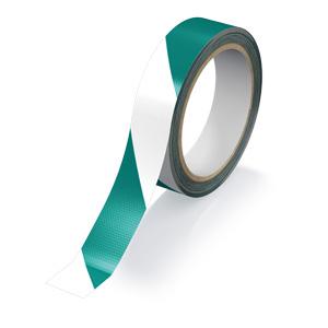 再帰反射テープ 374−111 緑/白