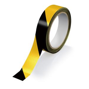 再帰反射テープ 374−112 黄/黒