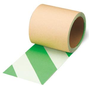 蛍光ノンスリップ 374−48 白/緑 100mm幅