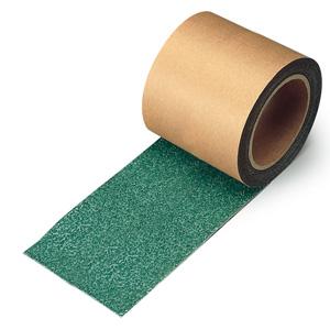 すべり止めテープ シマ鋼板用 (緑) 374−91