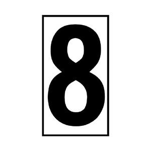 予告・説明看板日付マグネット 383−508 (8)
