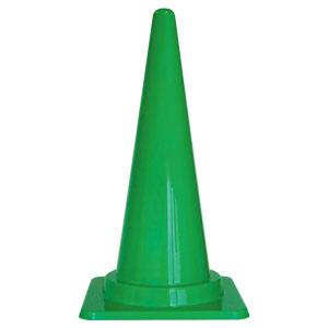 寒冷地仕様三角コーン フレックスコーン 385−102 緑