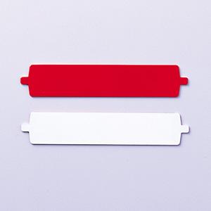 回転名札板の名札 393−54 (白・赤)