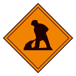 道路用標識(仮設用) 395−231 道路工事中