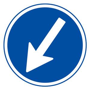 道路用標識(仮設用) 395−331 指定方向外進行禁止