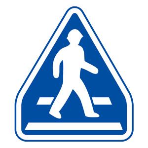 道路用標識(仮設用) 395−481 横断歩道