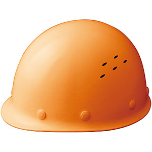通気孔付 軽量ヘルメット SC−LMV RA オレンジ