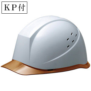 ヘルメット SC−12PCLV RA KP付 ホワイト/ブラウン