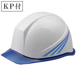 デザインヘルメット クリアバイザー ブルーストライプ&ホワイト