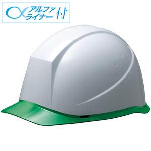 ヘルメット SC−12PCL RA α ホワイト/グリーン