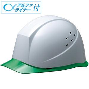 ヘルメット SC−12PCLV RA α ホワイト/グリーン