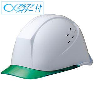 ヘルメット LSC−11PCLV α ホワイト/グリーン