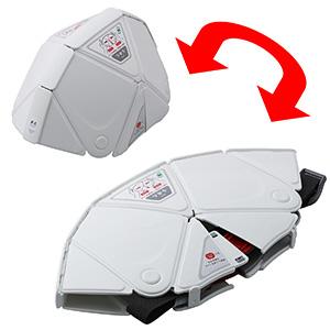 折りたたみ防災ヘルメット TSC−10 Flatmet フラットメット ホワイト
