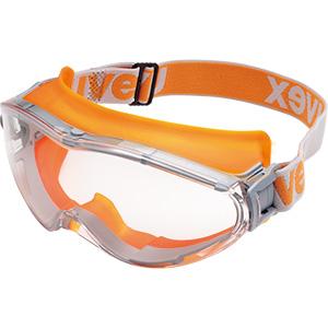 ゴーグル X−9302 uvex ultrasonic 合成ゴムバンド オレンジ