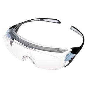 ビジョンベルデ 小型 保護めがね オーバーグラス VS−303F ブルー