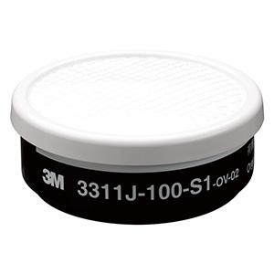 直結式 小型用 吸収缶 3311J−100−S1有機ガス用 S1ろ過材付き