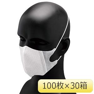 メガ立体マスク NO.886 オーバーヘッド (100枚X30箱) 3PLY