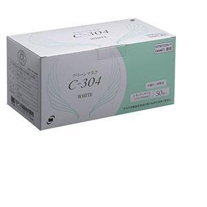 クリーンマスク C−304 鉄芯入ノーズクリップ ホワイト 50枚/箱×40箱