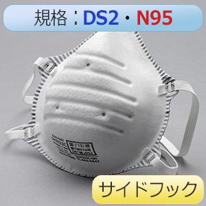 使い捨て防じんマスク SH7022C DS2/N95 活性炭入サイドフック20枚