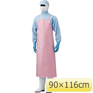 ウレタン胸付きエプロン ハトメ付 FIU−200B 90×116cm ピンク