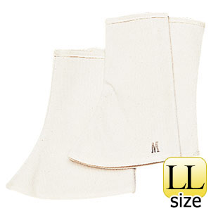 帆布 脚絆 ML−108型(面ファスナー式) 白 LL