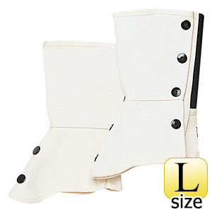 ML−1201 帆布 脚絆 ホック式 白 L