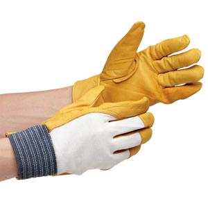 革手袋 MT−14D 甲メリヤス付 黄 12双