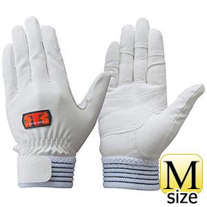 トンボレックス 牛革手袋 E−C811W 薄手・ガンカット仕様 ホワイト M