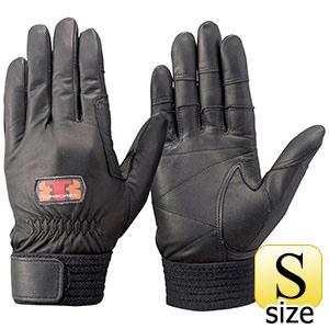 トンボレックス ソフト山羊革製手袋 G−REX32BK ブラック S