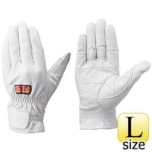 トンボレックス 牛革手袋 C−409W 中厚・ガンカット仕様 ホワイト L