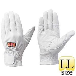 トンボレックス 牛革手袋 C−409W 中厚・ガンカット仕様 ホワイト LL