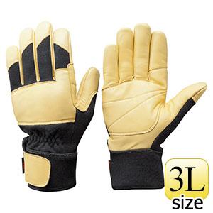 トンボレックス ケブラー(R)繊維製防火手袋 K−G201BK 3L
