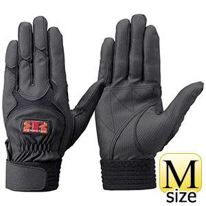 トンボレックス 合成皮革手袋 E−838BK 薄手・ガンカット ブラック M