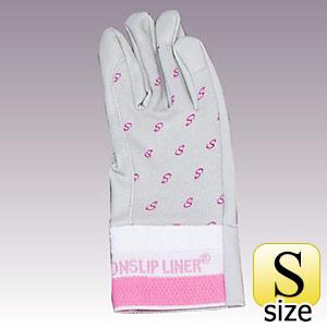合成皮革手袋 ノンスリップ甲メリ PA−1451 ピンク S 10双
