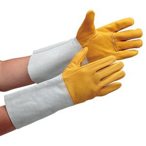 溶接革手袋 AG502 溶接牛クレスト5本指 (販売単位:10双)