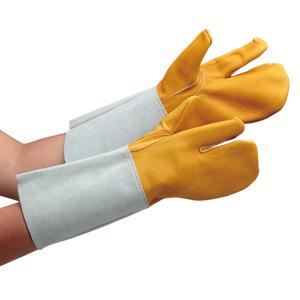 溶接革手袋 AG302 溶接牛クレスト3本指 (販売単位:10双)
