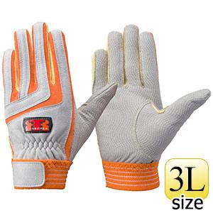 トンボレックス ケブラー(R)繊維製手袋 K−501R オレンジ×イエロー 3L