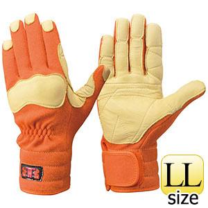 トンボレックス ケブラー(R)繊維製手袋 K−144R オレンジ LL