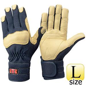 トンボレックス ケブラー(R)繊維製手袋 K−144NV ネイビー L