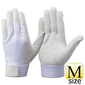 トンボレックス 羊革手袋 RS−601W 薄手・甲ニット仕様 ホワイト M