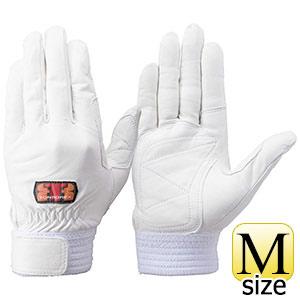 トンボレックス 牛革手袋 CS−303W 中厚・ガンカット仕様 ホワイト M