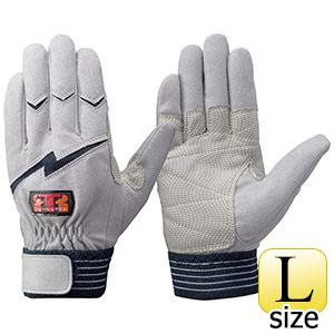 トンボレックス 人工皮革手袋 E−125NV 中厚・ガンカット仕様 ネイビー L