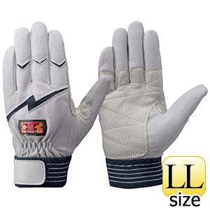 トンボレックス 人工皮革手袋 E−125NV 中厚・ガンカット仕様 ネイビーLL