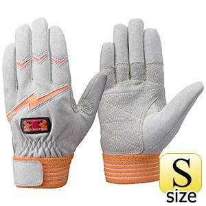 トンボレックス 人工皮革手袋 E−125R 中厚・ガンカット仕様 S