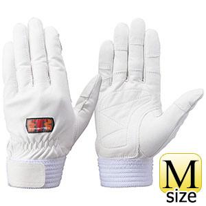 トンボレックス 牛革手袋 CS−302W 中厚タイプ ホワイト M