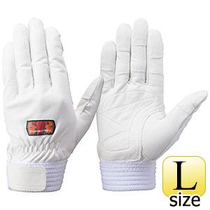 トンボレックス 牛革手袋 CS−302W 中厚タイプ ホワイト L