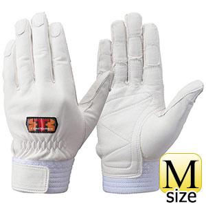 トンボレックス 牛革手袋 CS−701W 中厚・ロールガード ホワイト M